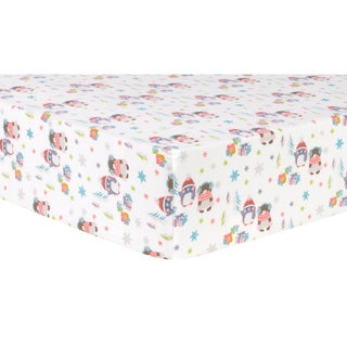 Link to Trend Lab Winter Wishes Cotton Flannel Deluxe Fitted Crib Sheet Similar Items in Baby Bed Sheets