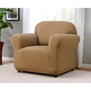 Galway Polyester and Spandex Stretch Chair Slipcover