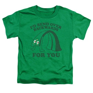 Gumby/Bend Backwards Short Sleeve Toddler Tee in Kelly Green