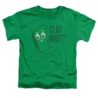 Gumby/Clay What Short Sleeve Toddler Tee in Kelly Green