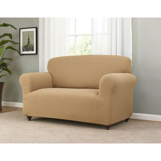 Link to Sanctuary Checker Board Stretch Loveseat Slipcover Similar Items in Slipcovers & Furniture Covers