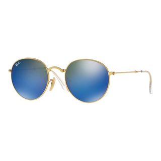 Ray-Ban Men's RB3532 47 Gold Metal Round Sunglasses