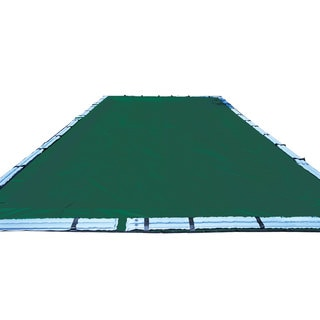 Swimline Dark-green and Black 12-year In-ground Swimming Pool Winter Cover with Water Tubes