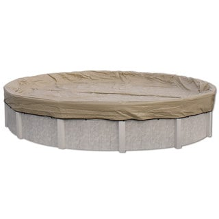 Midwest Canvas Tan 20-year Above-ground Swimming Pool Winter Cover