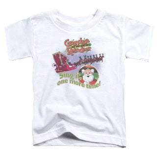 Granma Got Run Over By A Reindeer/All About The Songs Short Sleeve Toddler Tee in White