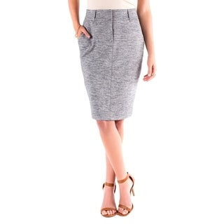 DownEast Basics Women's Grey Polyester/Cotton On the Fly Skirt