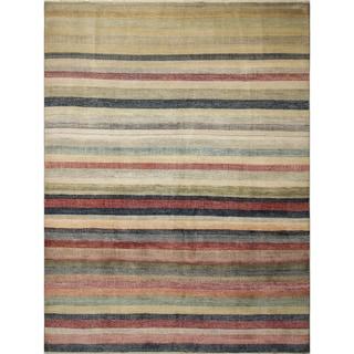Grass Hassan Teal Blue Rug (8'9 x 11'6)