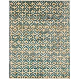 Hand-Knotted Haleigh Light Blue Rug (5'11 x 7'10)