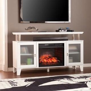 Harper Blvd Harrell White Media Infrared Electric Fireplace