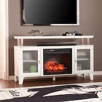 Gracewood Hollow Dauenhauer White Media Infrared Electric Fireplace
