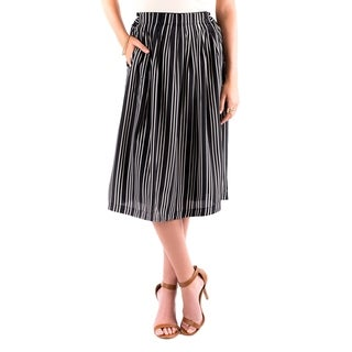 DownEast Basics Women's Sack Lunch Black Polyester Skirt