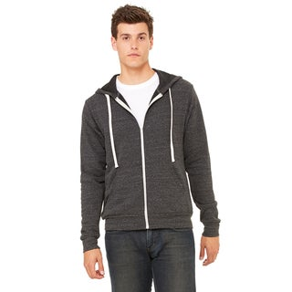 Unisex Triblend Sponge Fleece Full-Zip Char-Black Triblend Hoodie