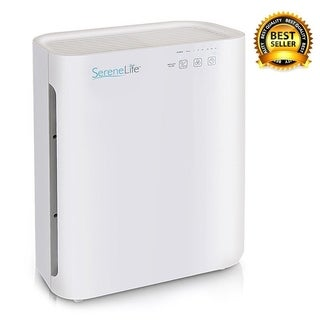 SereneLife Air Purifier with Anti-germ Healthy Clean Air Quality Control