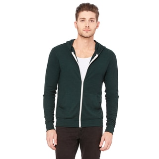 Unisex Triblend Full-Zip Lightweight Emerald Triblend Hoodie