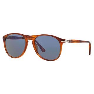 Persol Men's PO9649S 96/58 Plastic Pilot Sunglasses