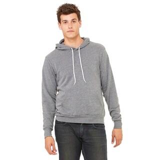 Unisex Grey Fleece Pullover Hoodie