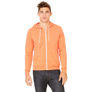 Unisex Coral Poly-Cotton Fleece Full-zip Hoodie (3 options available)