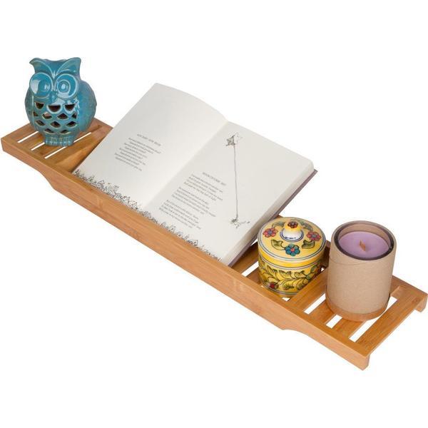 30-inch Slatted Bamboo Bathtub Tray