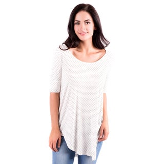 DownEast Basics Women's Rayon-blended Hot Dot's Top