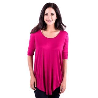 DownEast Basics Women's Rayon-blended Hot Dot's Top