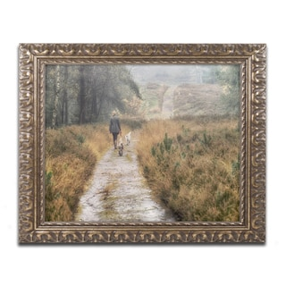 Cora Niele 'Walking the Dogs' Ornate Framed Art