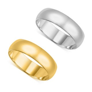 14k Men's Yellow or White Gold Standard Fit 8-millimeter Wedding Band