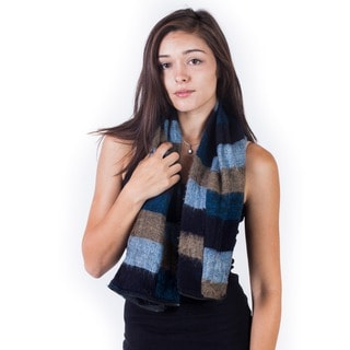 Warm Zippered Tri-Striped Infinity Scarf