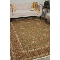 Nourison Nourmak Encore Chocolate Mint Area Rug (9'9 x 13'9)