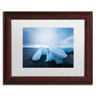 Philippe Sainte-Laudy 'Blue On Black' Matted Framed Art