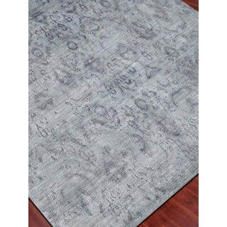 Hand-Knotted Abigail White Ice Art Silk Accent Rug - 2' x 3'