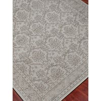 Hand-Knotted Eden Silver Art Silk Area Rug - 2' x 3'