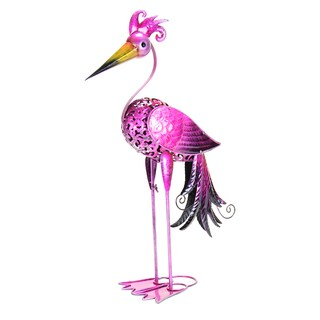 Exhart GeekyBeek Metal Paradise Bird Statue