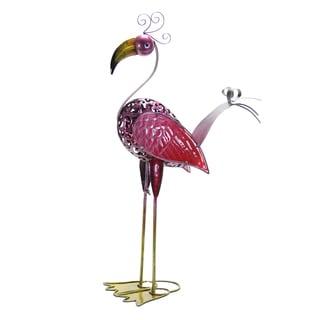 Exhart GeekyBeek Metal Flamingo Statue