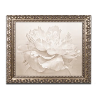 Cora Niele 'White Peony' Ornate Framed Art