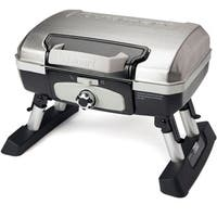 Cuisinart Petit Gourmet Silver Portable Tabletop Outdoor LP Gas Grill