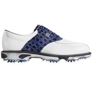 FootJoy DryJoys Tour Golf Shoes 2016 White/Blue Gator Croc