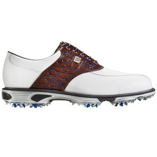 FootJoy DryJoys Tour Golf Shoes 2016 White/Brown Gator Croc