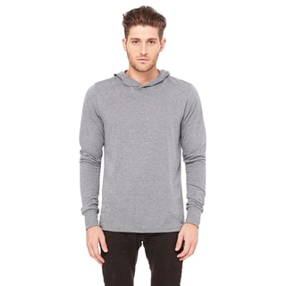 Grey Triblend Jersey Long-sleeved Unisex Hoodie