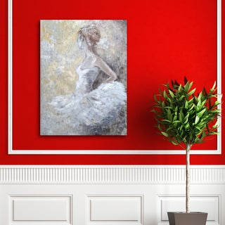 Anna Sims 'Waiting Dancer' Canvas Stretched and Wrapped Wall Art
