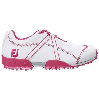 FootJoy M Project Junior Golf Shoes 2015 Girls White/Fuschia