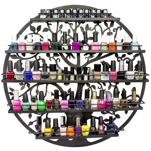 Shop Tree Silhouette Metal Wall Mounted 5 Tier Nail Polish