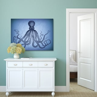 Miao Miao 'Vintage Octopus I' Stretched and Wrapped Portfolio Decor Canvas Wall Art Print