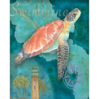 Portfolio Canvas Decor Bradley Clark 'Turtle Crop' Canvas Stretched and Wrapped Wall Art