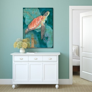 Bradley Clark 'Turtle Crop' Canvas Stretched and Wrapped Wall Art