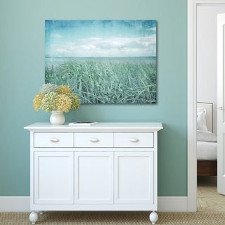 Portfolio Canvas Decor Hal Halli 'Textured Sea Grass' Stretched and Wrapped Canvas Print Wall Art