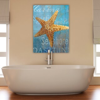 Portfolio Canvas Decor 'Starfish and Sea Crop' by Ali Zoe Wrapped Canvas Ready-to-hang Wall Art Print