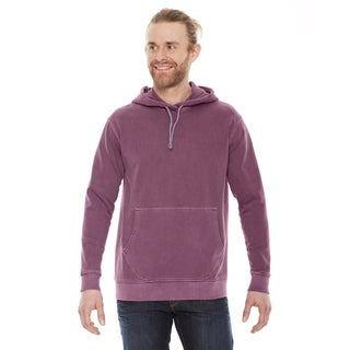 Unisex Nautical Red Cotton French Terry Hoodie