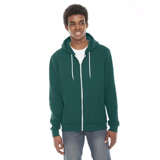 American Apparel Unisex Flex Ultra Blue Fleece Zip Hoodie