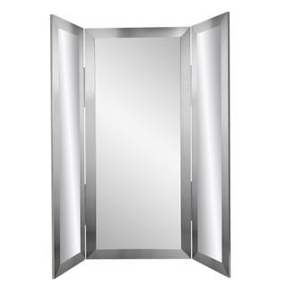 BrandtWorks Silver Tri-fold 71 - Inch Dressing Mirror