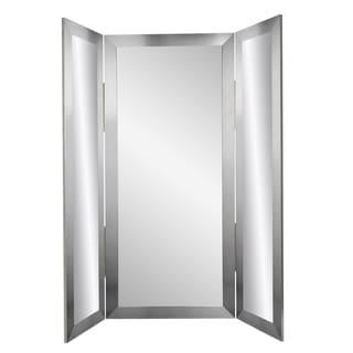 Modern Silver Tri-fold Mirror